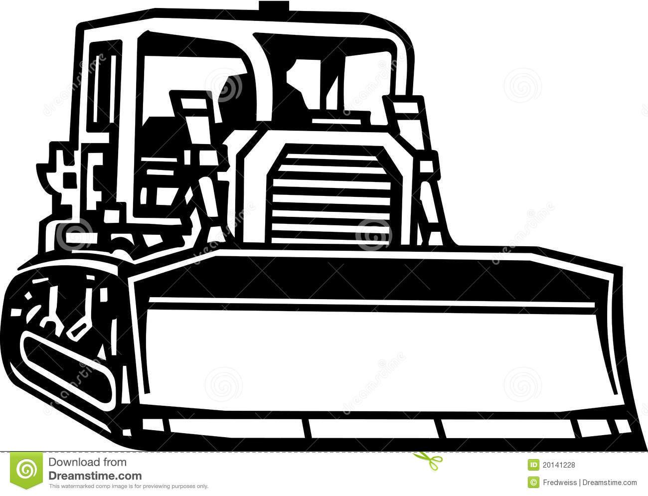 Bulldozer clipart black and white 4 » Clipart Station.