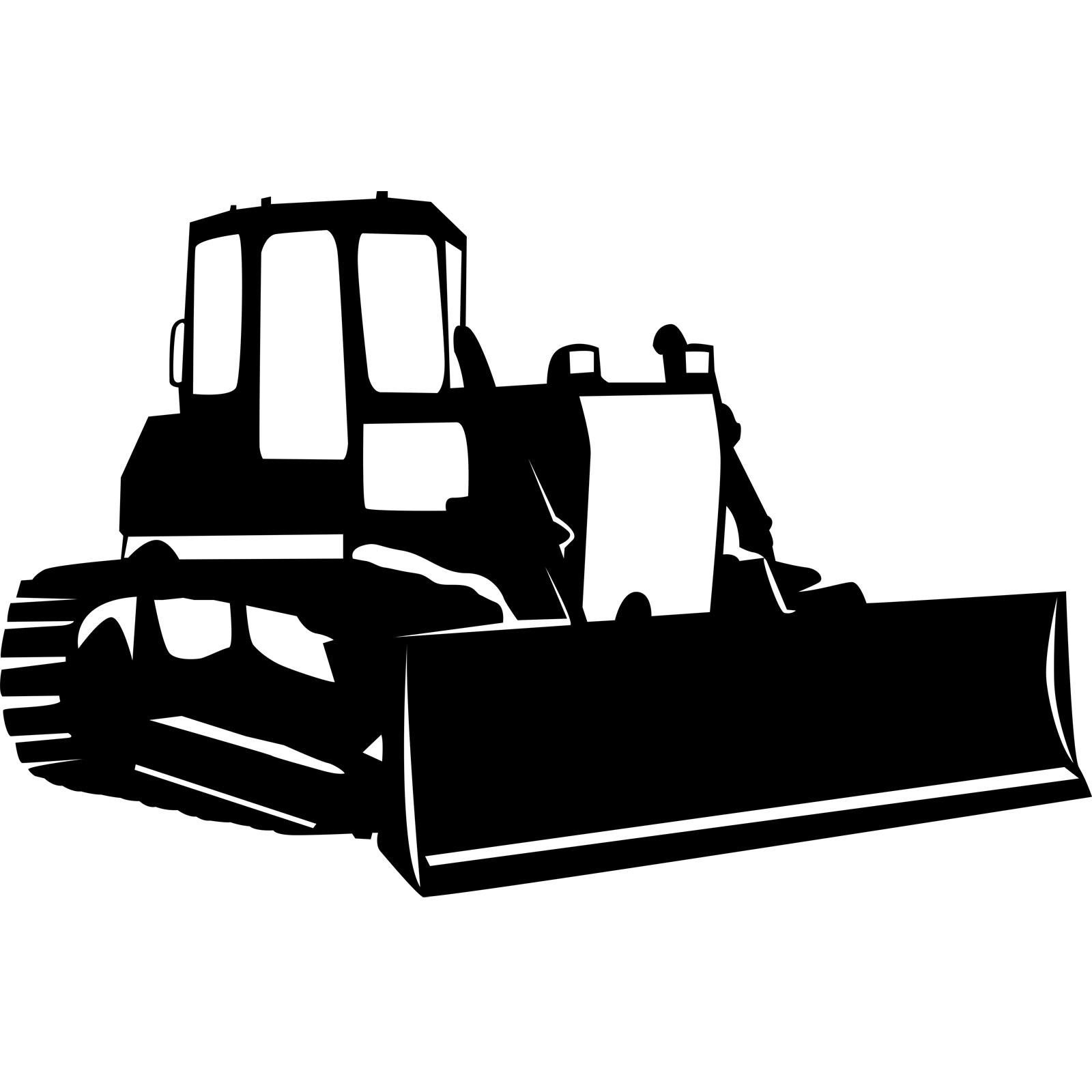 Black clipart bulldozer, Black bulldozer Transparent FREE.
