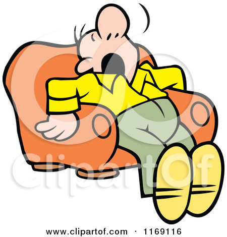 Clipart of a Cartoon Caucasian Woman Tossing and Tumbling in Bed.