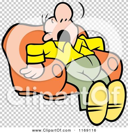 Cartoon of a Man Dozing in an Arm Chair.