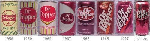 Dr. Pepper Can Evolution.