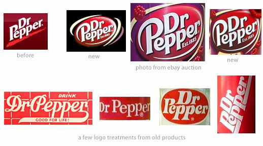 Old dr pepper Logos.