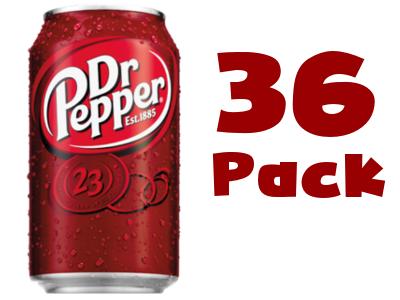 Dr. Pepper 36 pack.