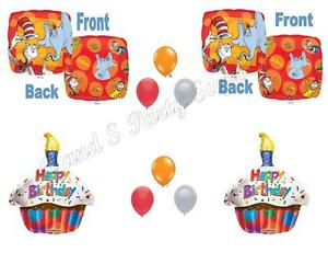 Details about DR SEUSS Happy Birthday Party Balloons Decoration Supplies  Horton Cat Hat Grinch.