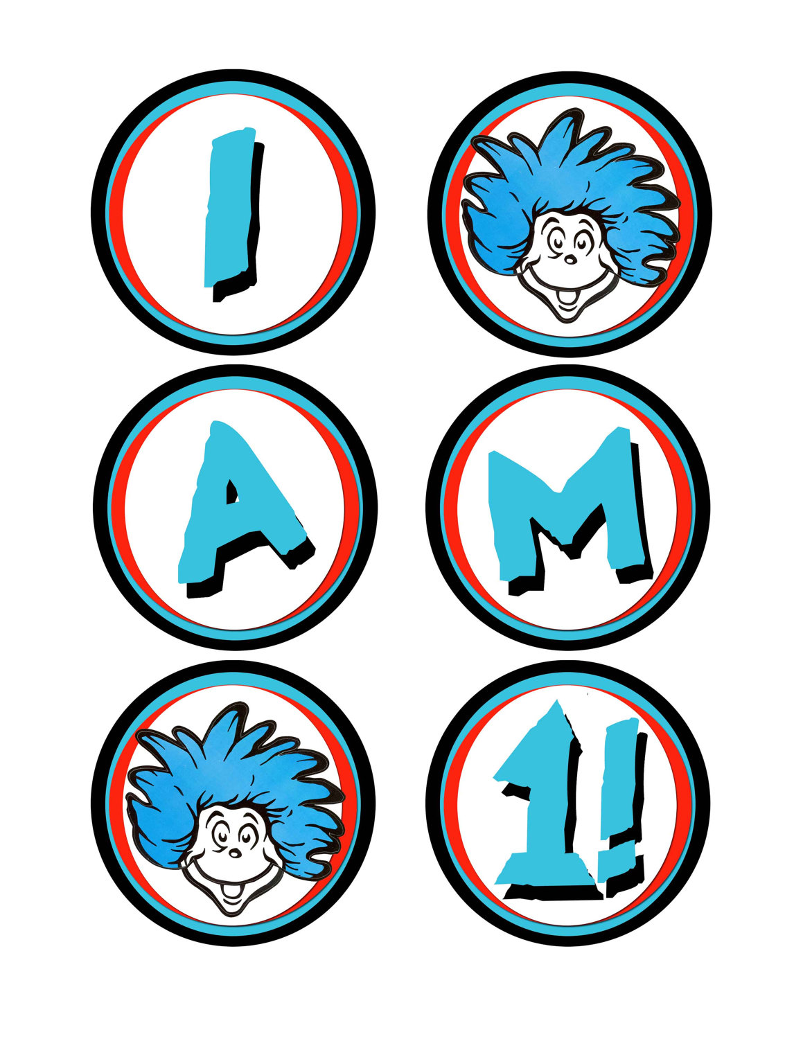Dr Seuss Birthday Clip Art Characters free image.