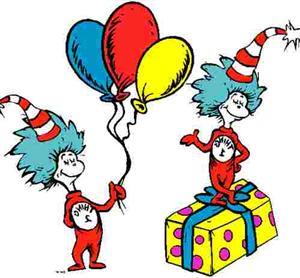 Dr Seuss Birthday Clipart.