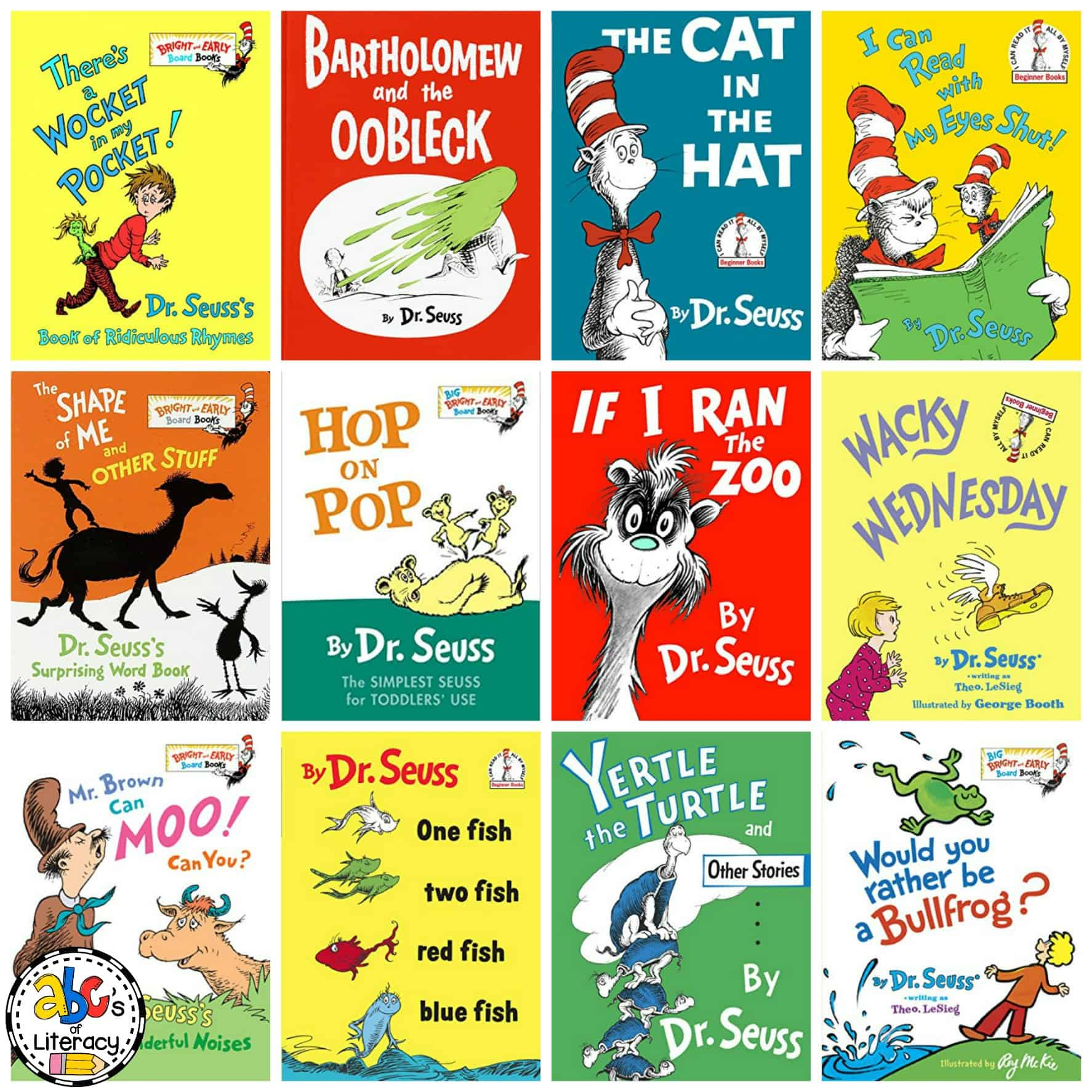 Over 60 Seusstastic Books by Dr. Seuss for Reading Month.