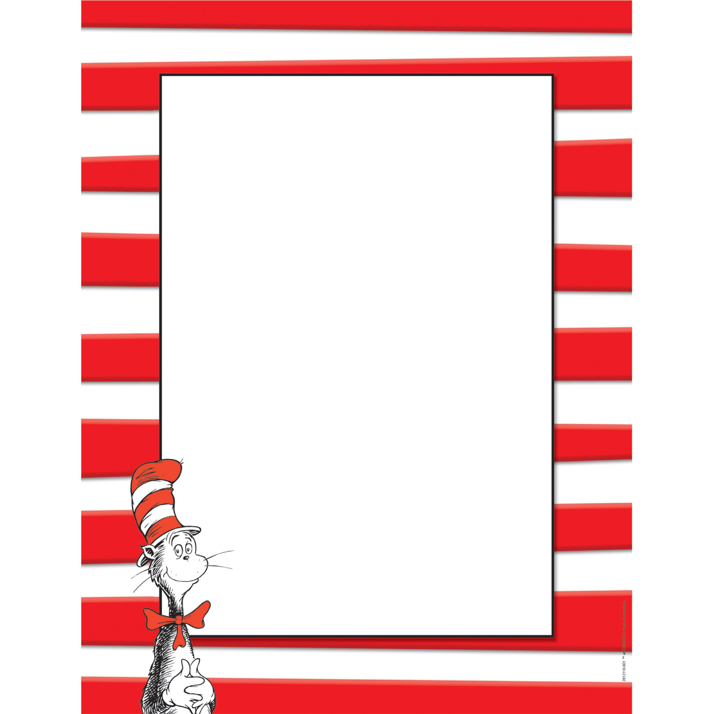 Dr Seuss Border Paper N2 free image.