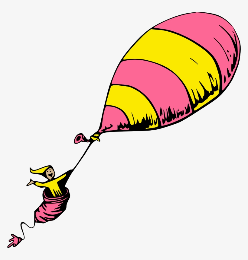 Dr Seuss Clipart Oh The Places You Ll Go Balloon Free Classic Clip.