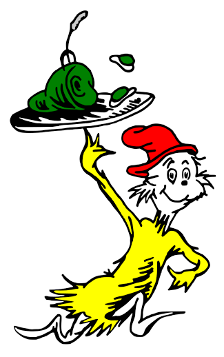 Displaying GREEN EGGS AND HAM.