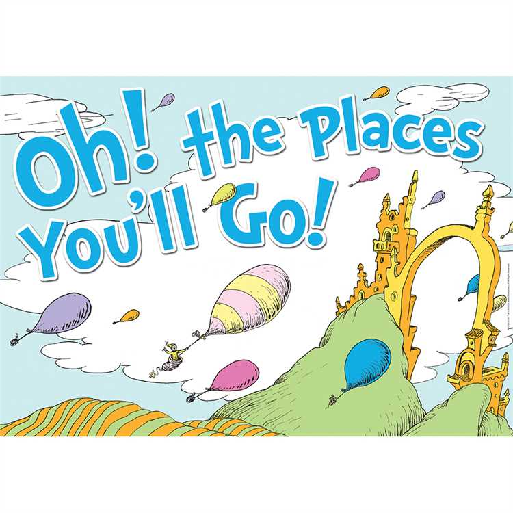 Dr. Seuss Oh the Places You'll Go Poster.