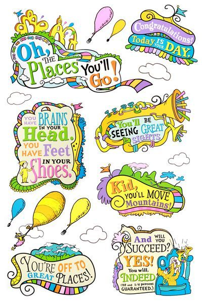 Eureka, Dr. Seuss Oh, the Places You'll Go! Bulletin Board Set, 27.
