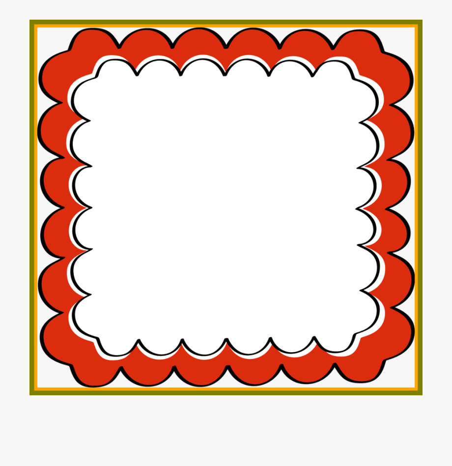 The Best Scrapbook And Red Scalloped Frame Clip Art.