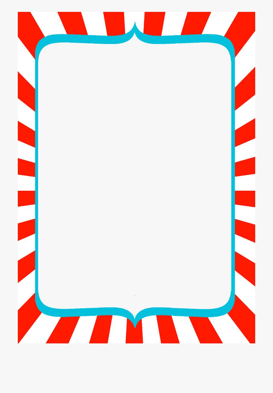 Seuss Border Clip Art Transparent.