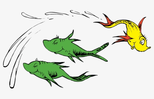 Free Dr Seuss Fish Clip Art with No Background.