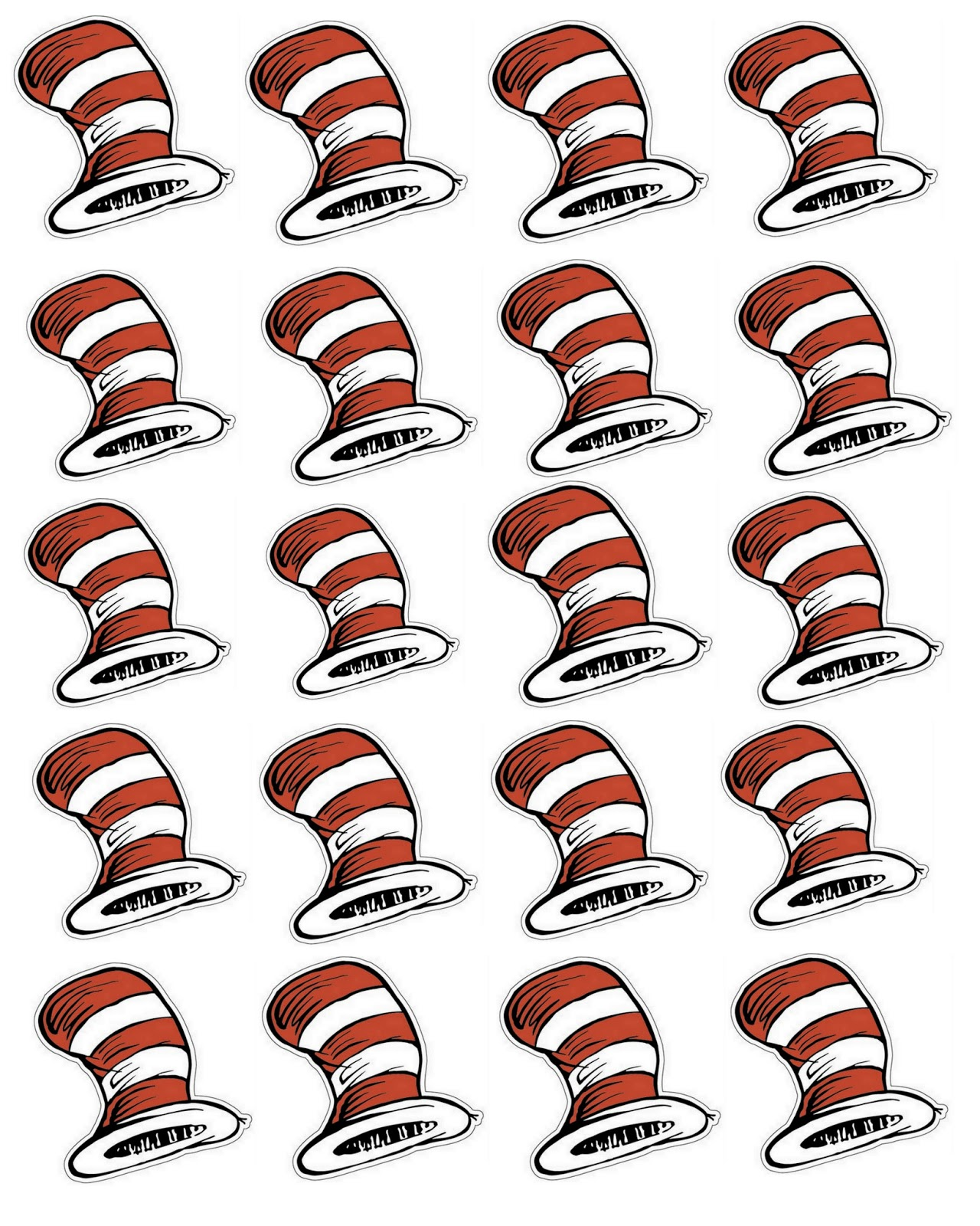 photo about Dr. Seuss Hats Printable named dr seuss clipart printable 20 free of charge Cliparts Down load