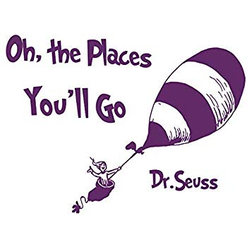 BooDecal Dr Seuss Quote Sign Series Wall Decals Oh The Place You Will Go  Balloon Travel Decoration Vinyl Lettering Stickers Inspiring Words Wall  Decor.