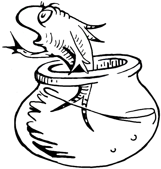 Cat In The Hat Fish Coloring Pages.