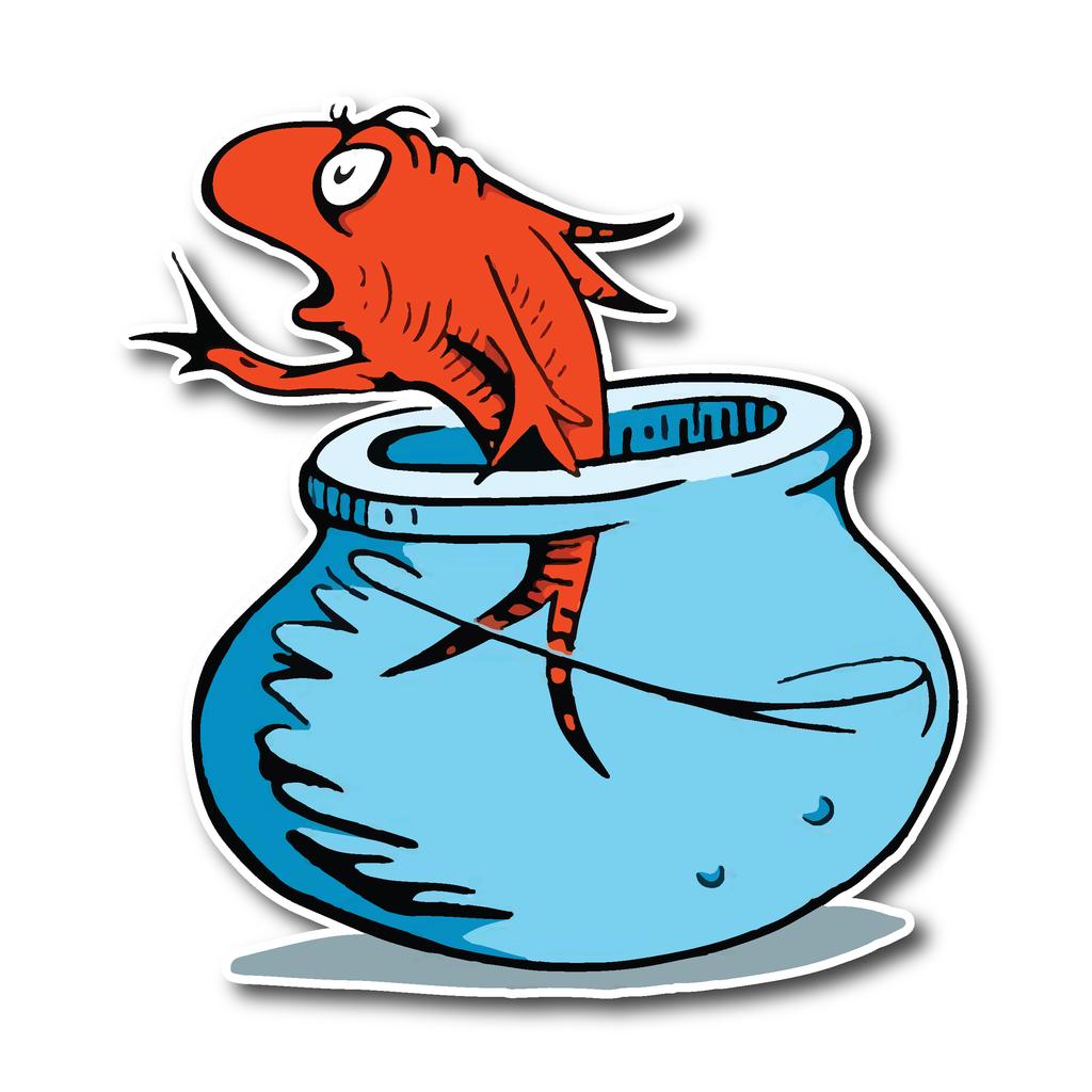 Aquarium Fish Dr Seuss stickers.