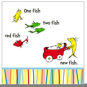 Dr Seuss Fish Fish Clipart.