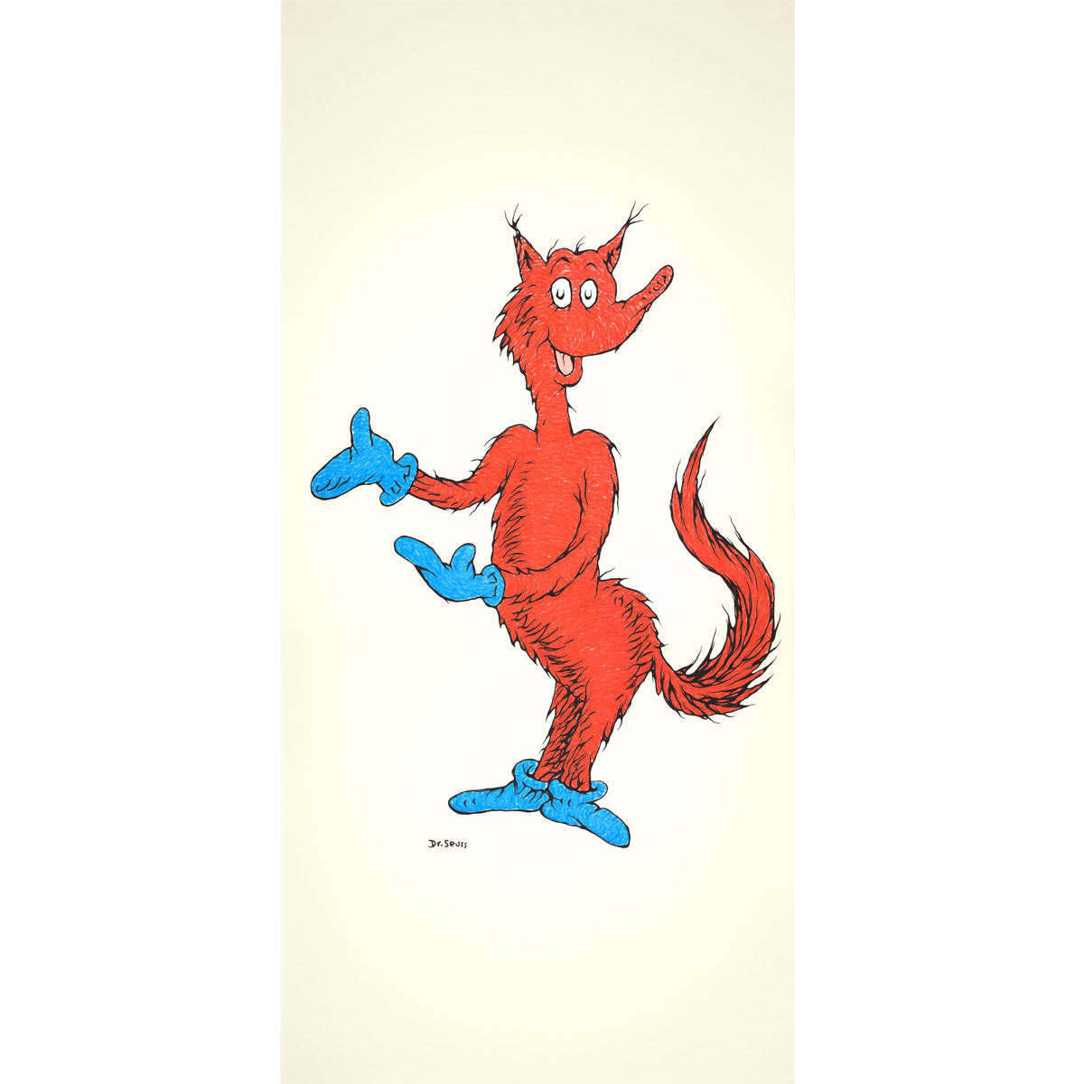 Fox in Socks 50th Anniversary Print — The Art of Dr. Seuss.