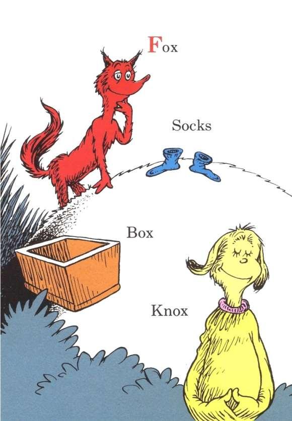 Dr Seuss Fox In Socks Clip Art N3 free image.