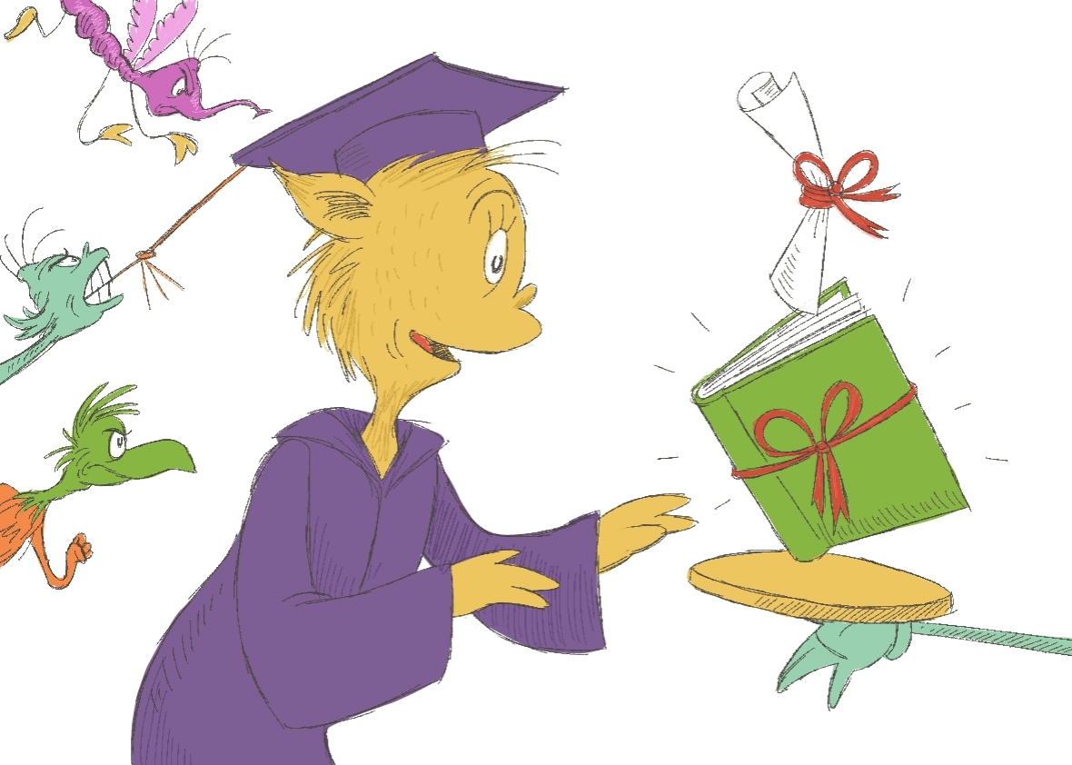 Oh The Places You\'ll Go Graduation Clipart.