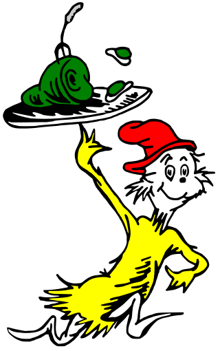 My little one reminded me today that it's Dr. Seuss' Birthday. Happy.