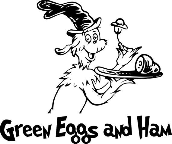 Green Eggs and Ham Dr. Seuss SVG vector illustration clipart files.