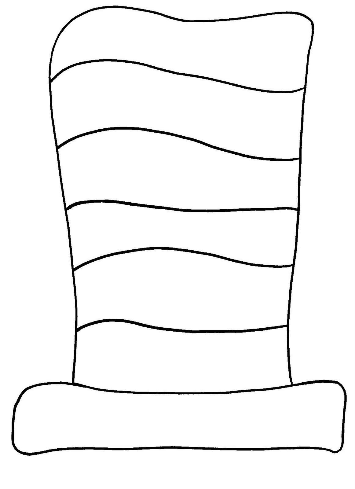 Photos of free template of dr seuss cat in the hat clipart.