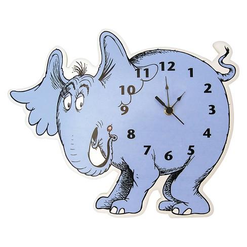 Dr. Seuss Horton Hears a Who Wall Clock Blue.