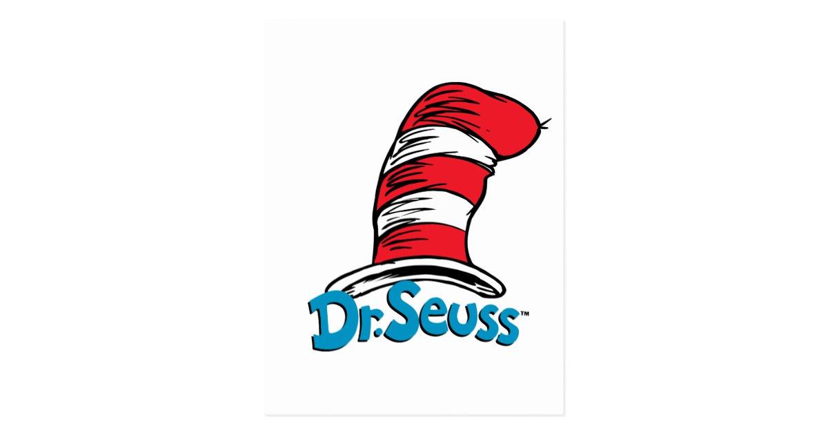 Dr. Seuss Hat Logo Postcard.