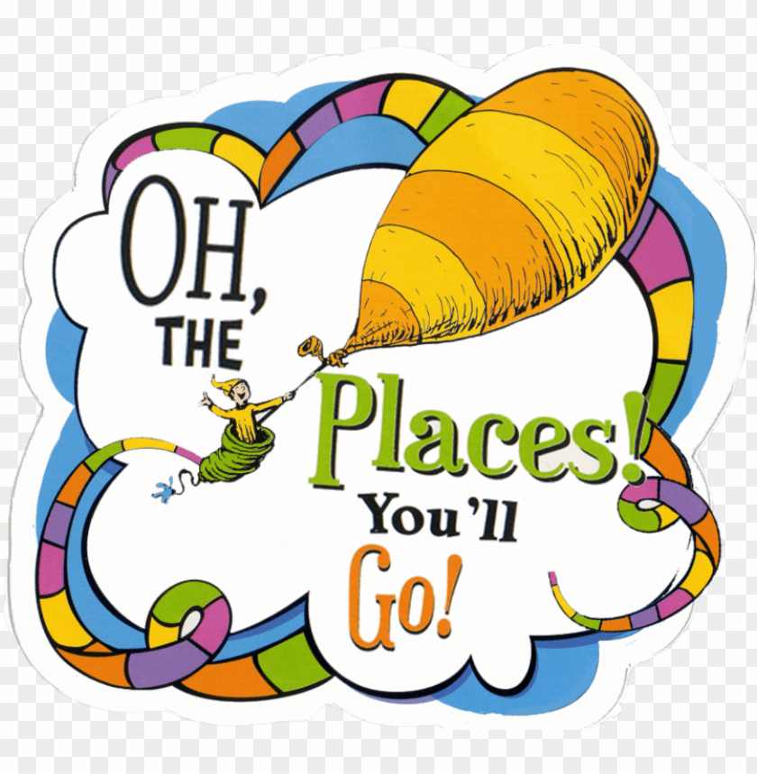 dr seuss oh the places you ll go balloons PNG image with.