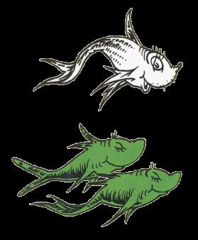 Pix For > Dr Seuss Blue Fish Clip Art.