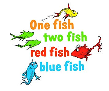 Graphique Home Decal, Dr. Seuss One Fish Two Fish (Discontinued by  Manufacturer).