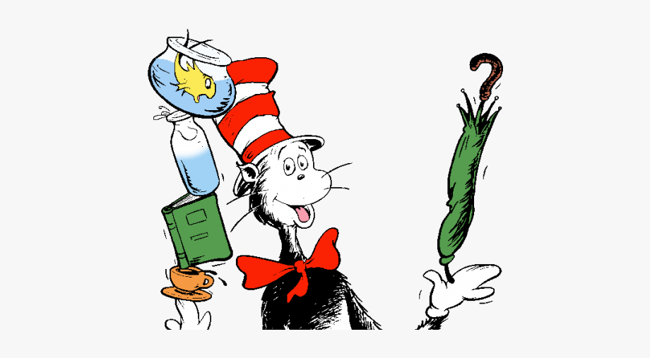 Dr Seuss Cat In The Hat Your Balancing Act Clipart.