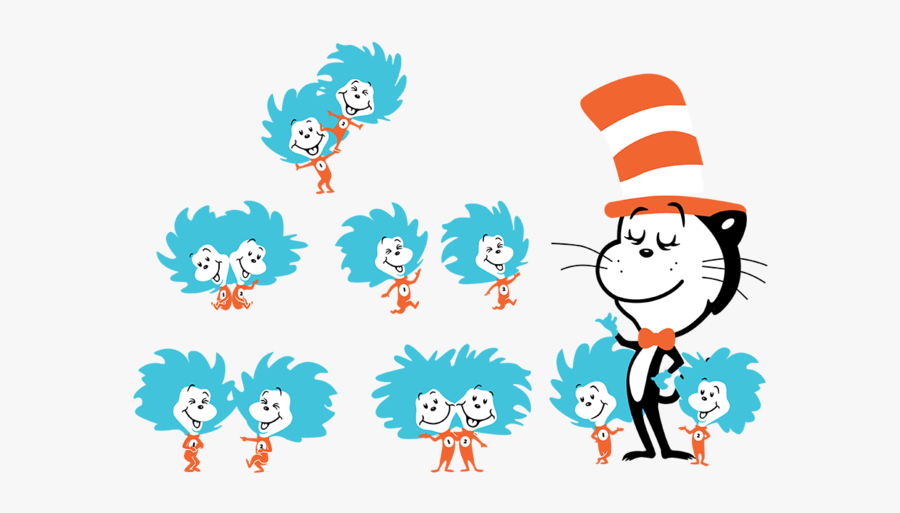 Dr Seuss Thing 1 And Thing 2 Png.