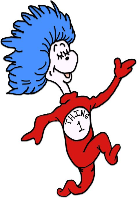 Thing 1 And Thing 2 Printable Template Seuss coloring pages.