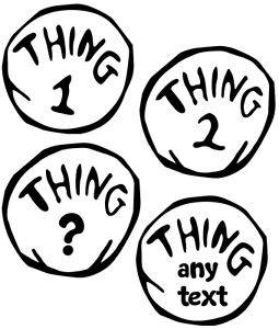Details about THING 1,2,3 CUSTOM CAT IN THE HAT DR SEUSS IRON ON HEAT  TRANSFER TSHIRT LOT DR.