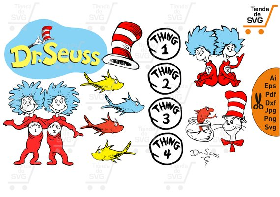 The Cat In The Hat Svg, Dr Seuss Svg, Th #71911.