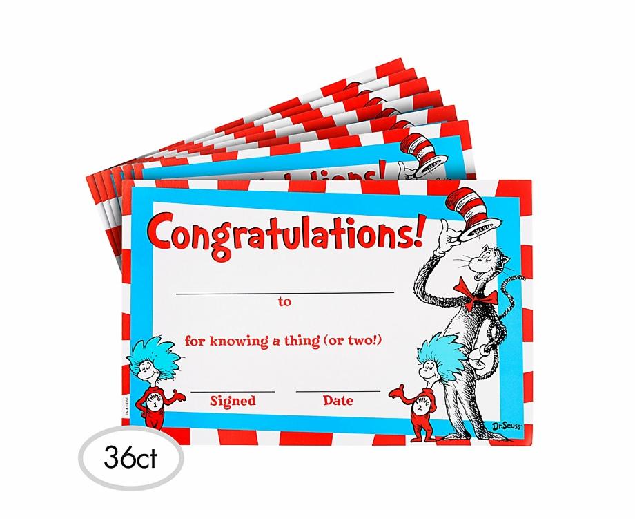 Dr Seuss Certificates Free PNG Images & Clipart Download #86634.