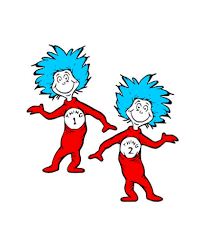 Image result for thing 1 and thing 2.