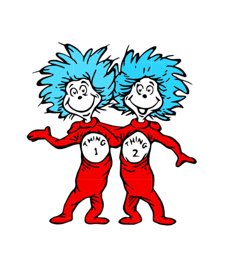 Thing 1 And Thing 2 Cat In The Hat Png & Free Thing 1 And Thing 2.