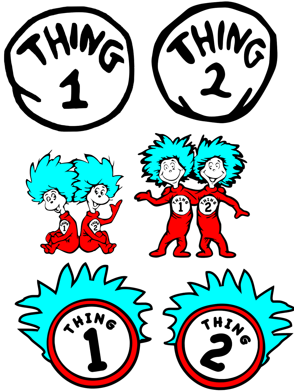 Thing 1 And Thing 2 Printable.