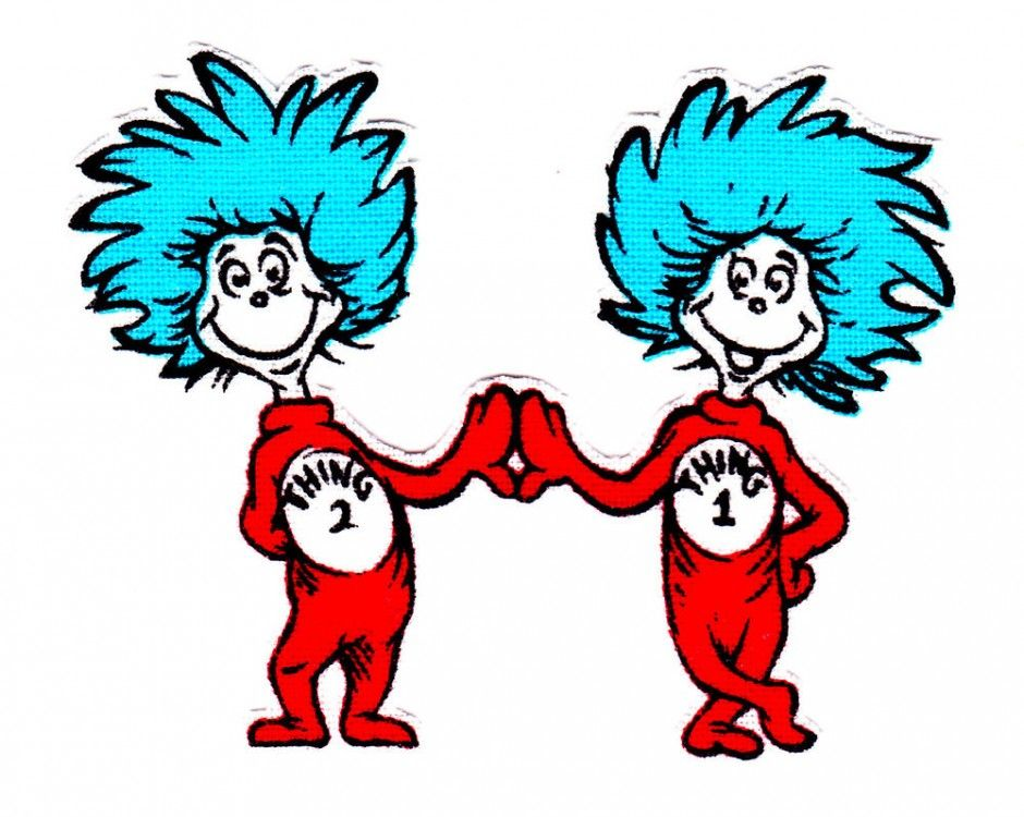 cat in the hat thing 1 and thing 2 clip art.