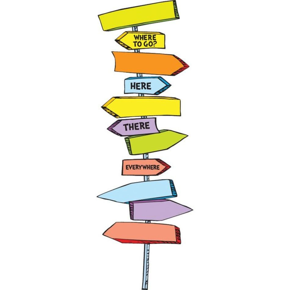 Home Dr Seuss™ Blank Directional Signs Bulletin Board Set clipart.
