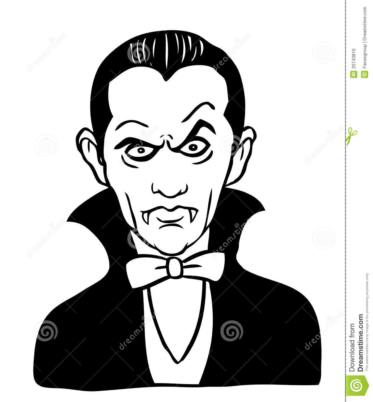 Cartoon drawing of Dracula stock vector. Illustration of clipart.