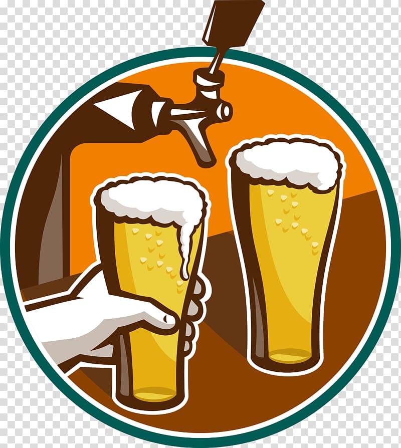 Beer tap Beer Glasses Keg , beer transparent background PNG.