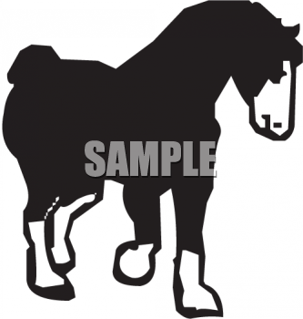 Silhouette of a Draft Horse.