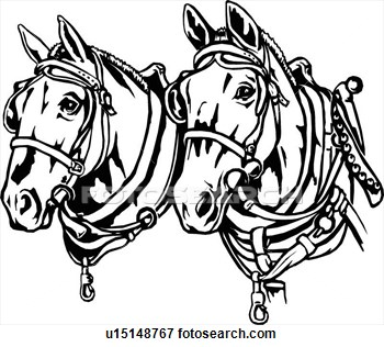 Draft horse clipart.